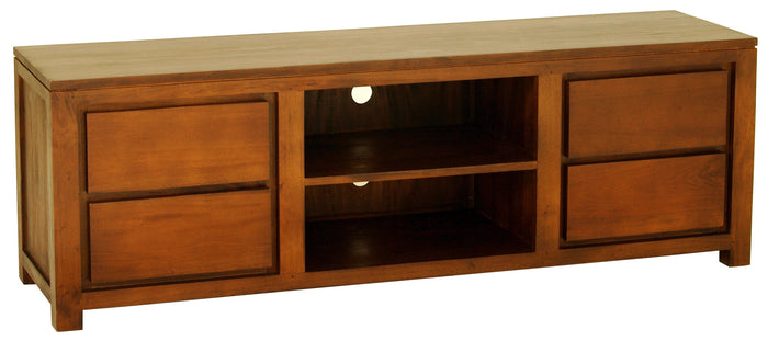 Amsterdam 4 Drawer Entertainment Unit 170cm (Light Pecan)