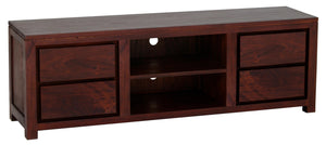Amsterdam 4 Drawer Entertainment Unit 170cm (Mahogany)