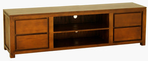 Amsterdam 4 Drawer Entertainment Unit 200cm (Light Pecan)