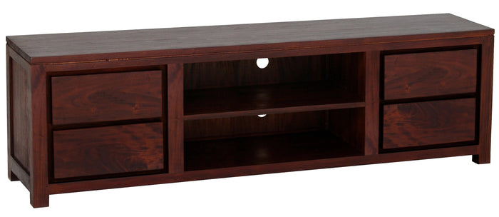 Amsterdam 4 Drawer Entertainment Unit 200cm (Mahogany)