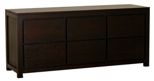 Amsterdam 6 Drawer Dresser (Chocolate)