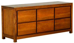 Amsterdam 6 Drawer Dresser (Light Pecan)