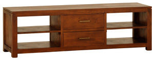 Paris 2 Middle Drawer Entetainment Unit (Light Pecan)