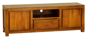 2 Door 1 Drawer Amsterdam Entertainment Unit (Light Pecan)