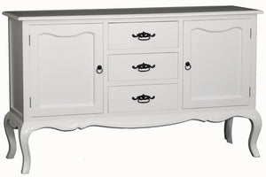 2 Door 3 Drawer French Buffet (White)