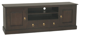 Tasmania 2 Door 3 Drawer Entertainment Unit (Chocolate)