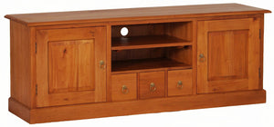 Tasmania 2 Door 3 Drawer Entertainment Unit (Light Pecan)