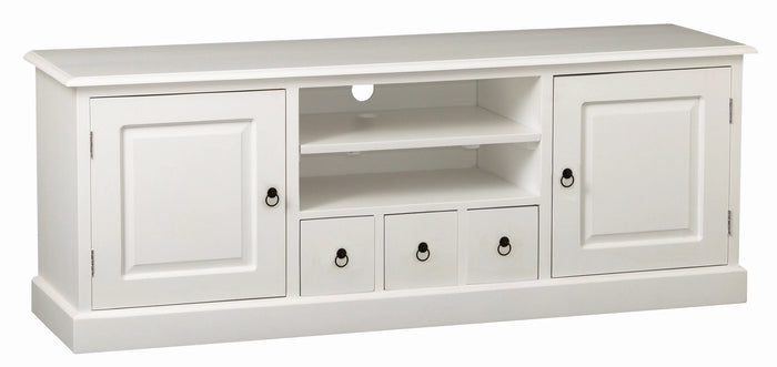 Tasmania 2 Door 3 Drawer Entertainment Unit (White)