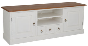 Tasmania 2 Door 3 Drawer Entertainment Unit (White Caramel)