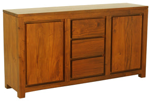 Amsterdam 2 Door 3 Drawer Buffet (Light Pecan)