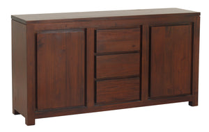 Amsterdam 2 Door 3 Drawer Buffet (Mahogany)