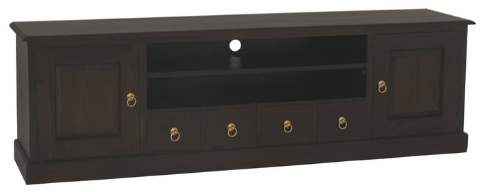 Tasmania 2 Door 4 DVD Drawer Entertainment Unit (Chocolate)