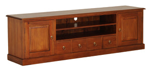 Tasmania 2 Door 4 DVD Drawer Entertainment Unit (Light Pecan)