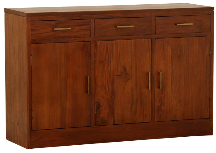 Paris 3 Door 3 Drawer Buffet (Light Pecan)