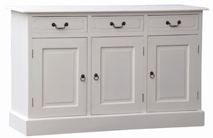 Tasmania 3 Door 3 Drawer Buffet (White)