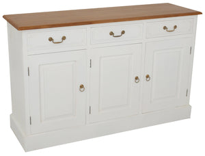 Tasmania 3 Door 3 Drawer Buffet (White Caramel)