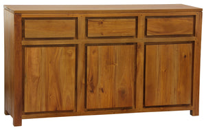 Amsterdam 3 Door 3 Drawer Buffet (Light Pecan)