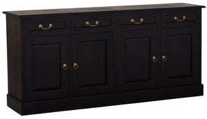 Tasmania 4 Door 4 Drawer Buffet (Chocolate)
