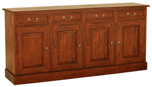 Tasmania 4 Door 4 Drawer Buffet (Light Pecan)