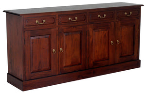 Tasmania 4 Door 4 Drawer Buffet (Mahogany)