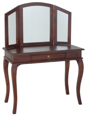 Queen Ann 1 Drawer Large Dressing Table (Mahogany)