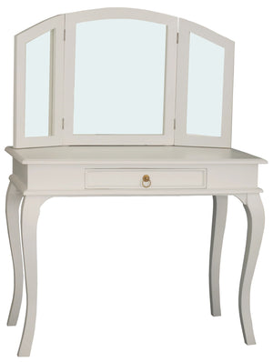 Queen Ann 1 Drawer Large Dressing Table (White)