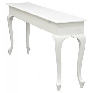 Queen Ann 3 Drawer Sofa Table (White)