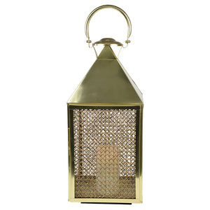 Summerville Rattan and Metal Lantern Large