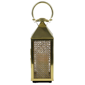 Summerville Rattan and Metal Lantern Small