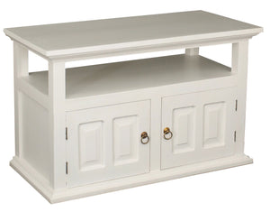 Tasmania 2 Door TV Stand (White)