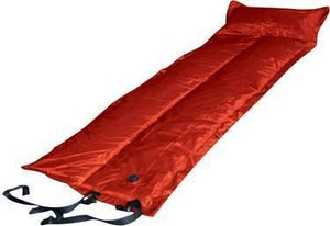 Trailblazer Self-Inflatable Foldable Air Mattress With Pillow - RED
