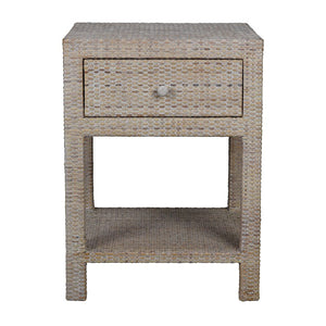 Verandah Rattan Bedside Table, Natural
