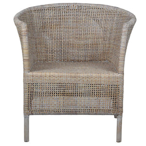 Verandah Rattan Chair, Whitewashed