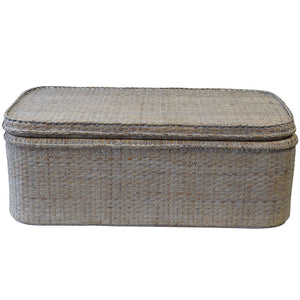Verandah Rattan Coffee Table, Whitewashed
