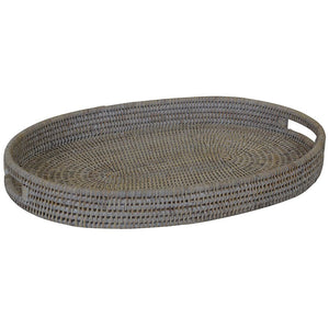 Verandah Rattan Tray Oval Small