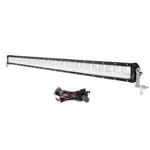 DEFEND 42inch LED Light Bar Dual Row Spot Flood Combo Driving Truck OffRoad 4WD