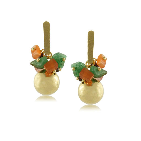 10004R 18K Gold Layered Earring
