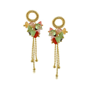 10007R 18K Gold Layered Earring