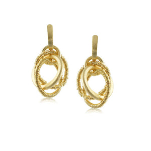 10013R 18K Gold Layered Earring