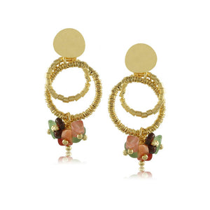 10015R 18K Gold Layered Earring
