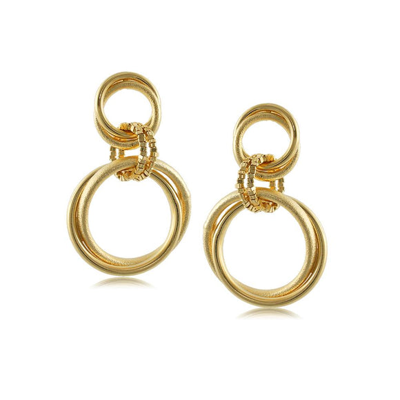 10021R 18K Gold Layered Earring