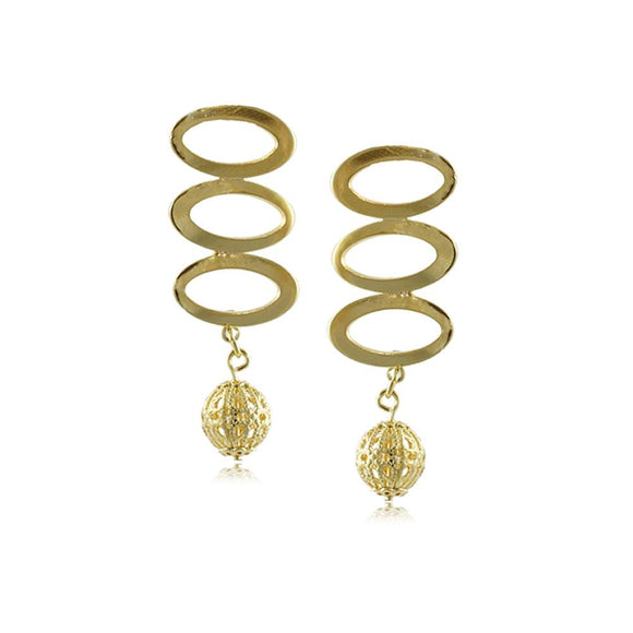 10024R 18K Gold Layered  Earring