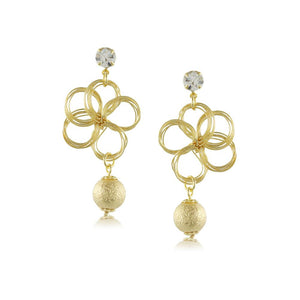 10042R 18K Gold Layered Earring