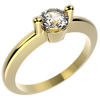 10047 18K Gold Layered CZ Women's Ring