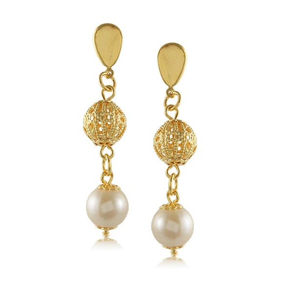 10055R 18K Gold Layered  Earring