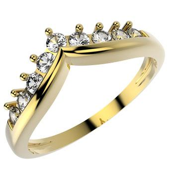 10063 18K Gold Layered CZ Ring