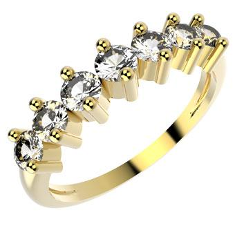10072 18K Gold Layered CZ Women's Ring