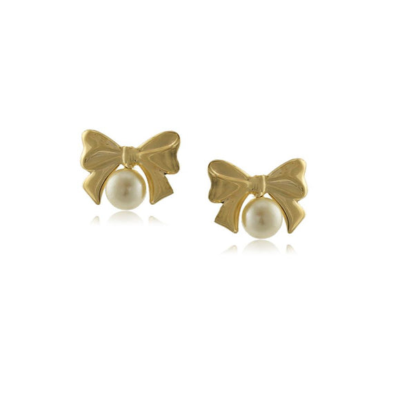 10106R 18K Gold Layered Earring Pearl