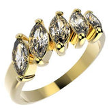 10144 18K Gold Layered CZ Women's Ring