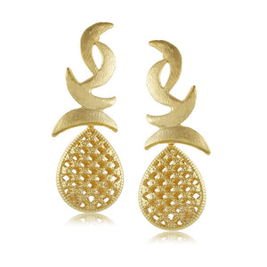 10165R 18K Gold Layered  Earring